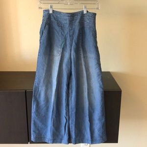 abercrombie and fitch jean culottes